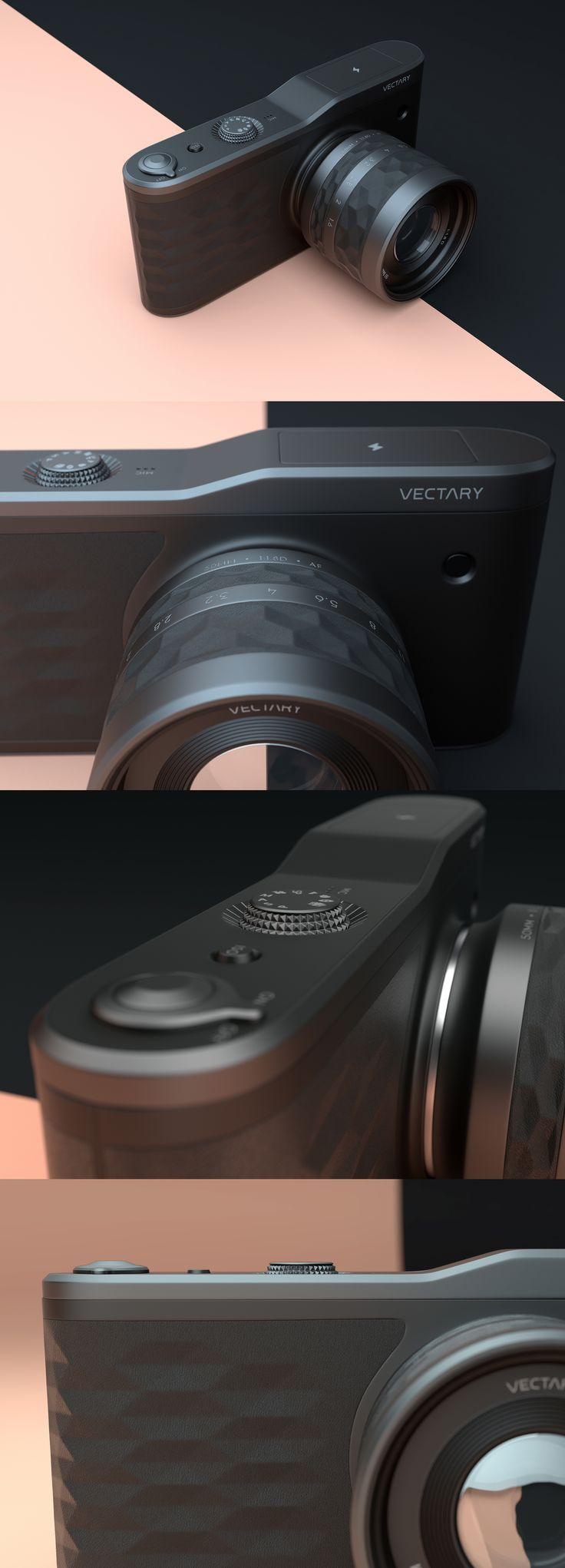 Camera product design created with VECTARY, the free, online 3D modeling tool. Featured on leManoosh.