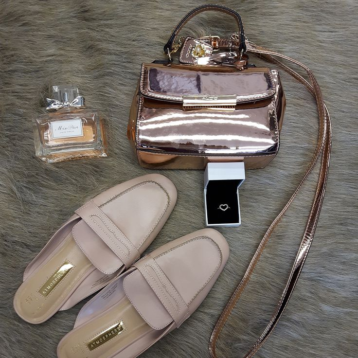 Accessories add an exclamation point to any outfit & perfume is an invisible, yet unforgettable accessory. #truth #accessorize #chic #PlatosClosetOshawa #gentlyused // #Aldo purse, $10 // #Atmosphere flats, Size 6, $8 // #Pandora heart ring, $35 // #MissDior perfume, $35 // | www.platosclosetoshawa.com