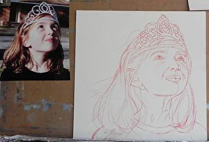 """A step by step demo of my painting """"Reluctant Princess"""", a pastel portrait of a young girl. www.daggistudio.com #portrait #demo #paste l#commission #painting"""