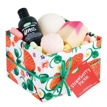 Strawberry Picnic LUSH Gift Set
