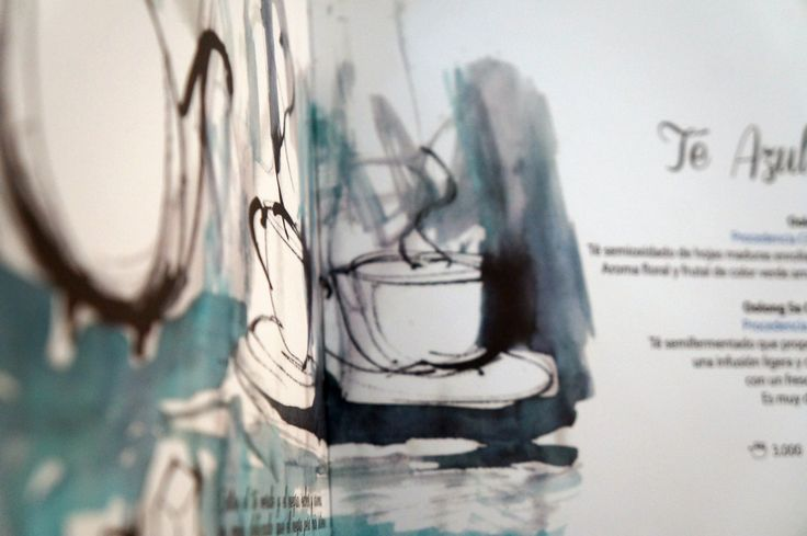 Interior carta de té La Marmita