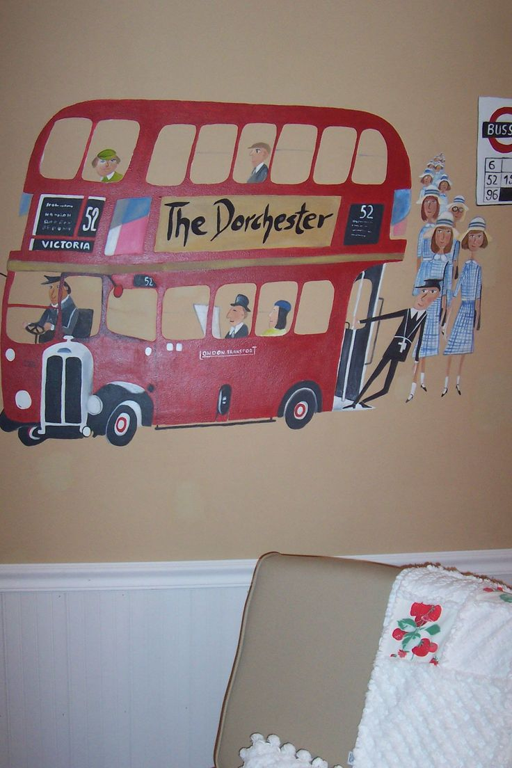 84 best wall art mural painting images on pinterest mural city mural london featuring window mural with big ben a red bus and the bus