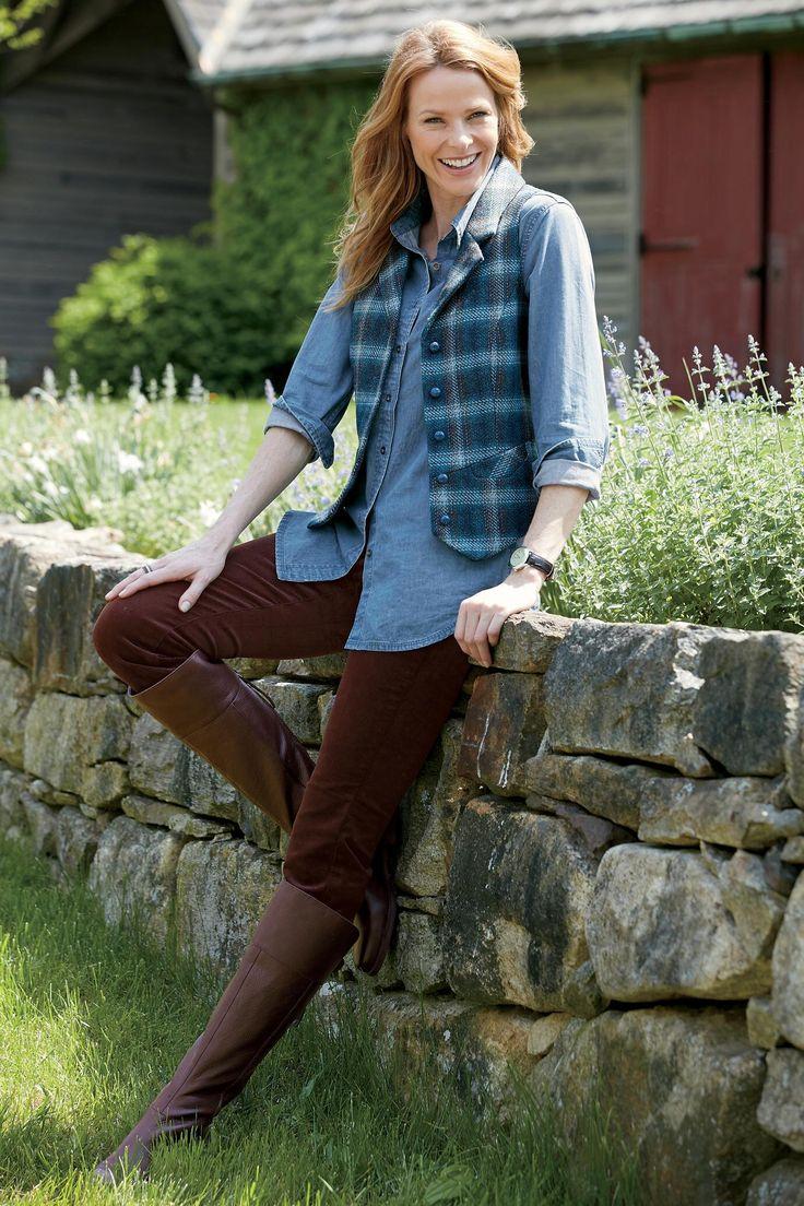 Classic Plaid Wool Vest: Classic Women's Clothing from #ChadwicksofBoston $49.99