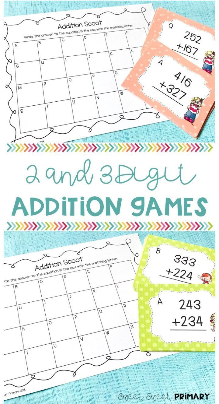 Your 2nd And 3rd Grade Students Will Have So Much Fun Practicing 2 Digit And 3 Digit Addition With This Exciting Scoo Addition Games Addition Practice Fun Math Board game addition letters