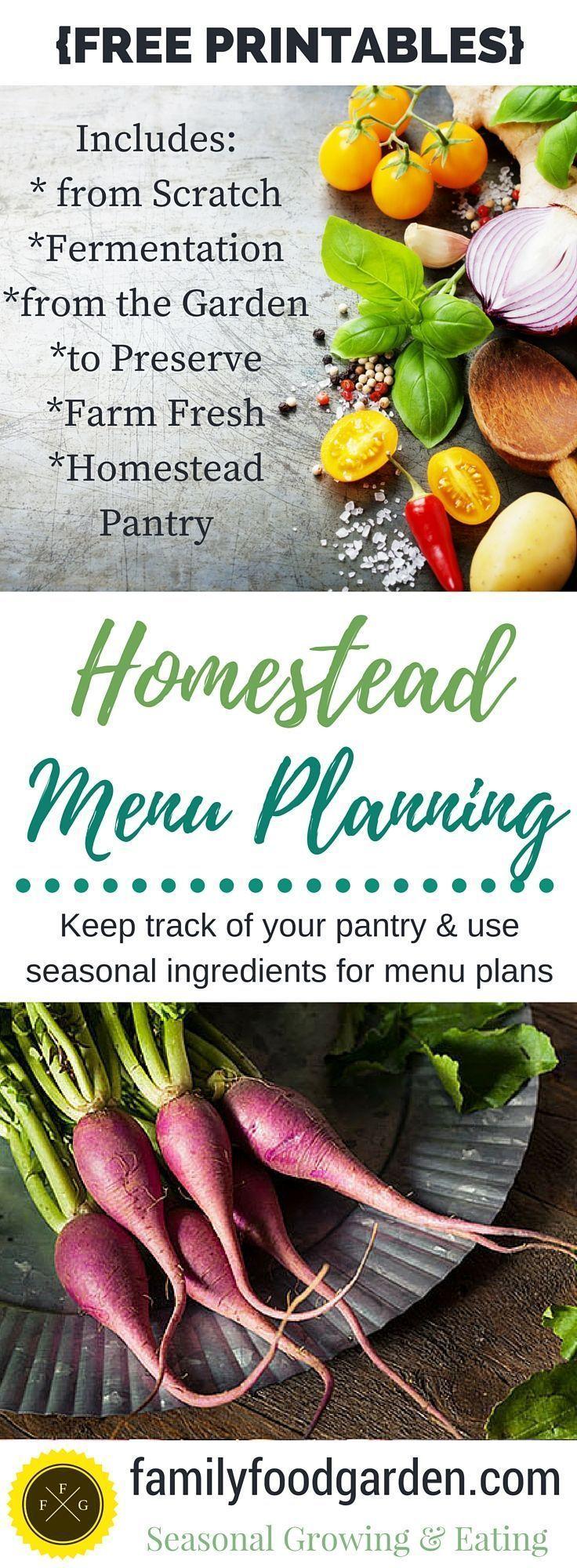 Seasonal Menu Planning {FREE PRINTABLES} for Homesteaders