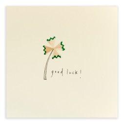 Pencil Shavings Cards - Good Luck