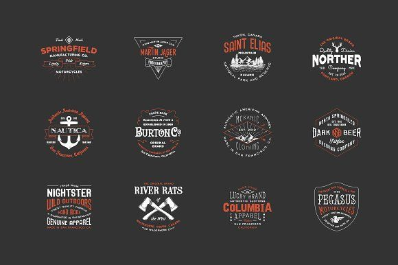 @newkoko2020 Hipster Vintage Logo Pack 2 by Victor Barac on @creativemarket #bundle #set #discout #quality #bulk #buy #design #trend #vintage #vintagegraphic #graphic #illustration #template #art #retro #icon