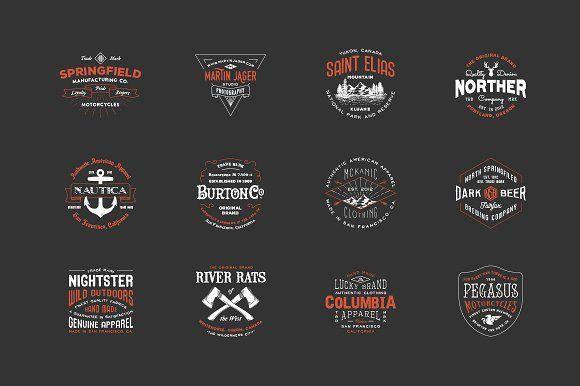 @newkoko2020 Hipster Vintage Logo Pack 2 by Victor Barac on @creativemarket #bundle #set #discout #quality #bulk #buy #design #trend #vintage #vintagegraphic #graphic #illustration #template #art #retro #icon