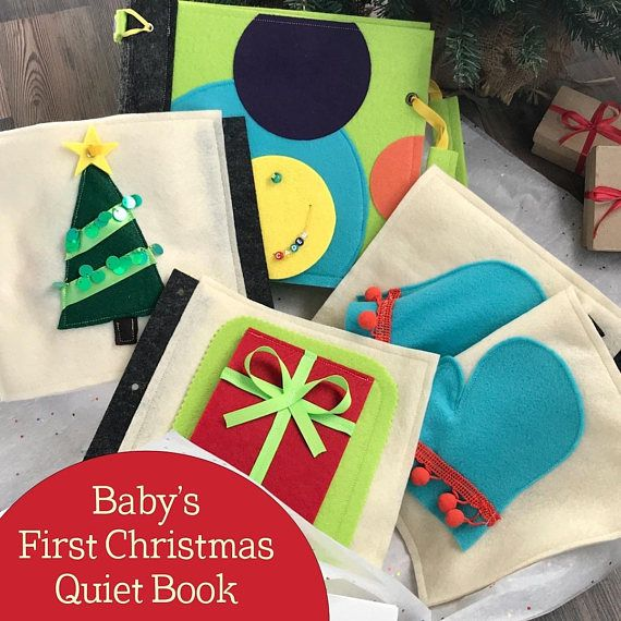 Baby's First Christmas Quiet Book for 6m to 1 Year Old