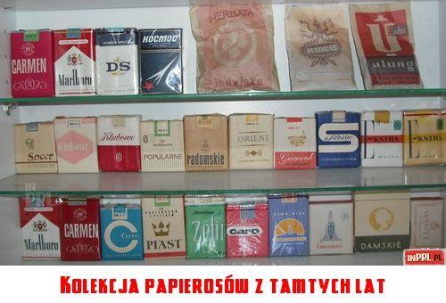 Kolekcja papierosów z ''tamtych lat''