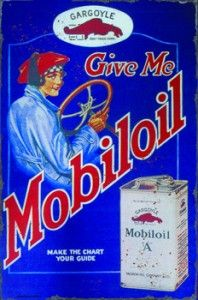 Give me Mobiloil Tin Sign $50