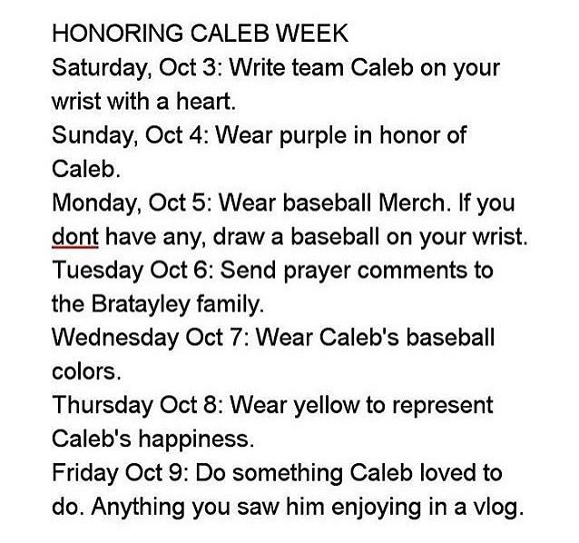I am very sorry to say this but Caleb Logan from Bratayley passed away at 7:08 PM on October 1st 2015. I send my prayers to there family and friends and hope Caleb is hitting a baseball right now up in the feild in the sky. We'll miss you our happy Baked Potatoe. His life was short (13 years) but it sure was a Great one.RIP.