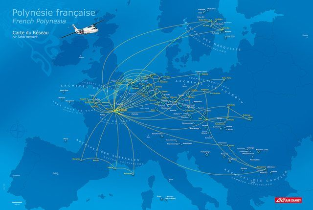 French Polynesia, over Europe. [960x643]