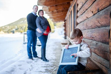 Denver Maternity Photographers | Maternity Photography | Colorado Pregnancy Photos | Evergreen Lake House | With Sibling | Big Brother