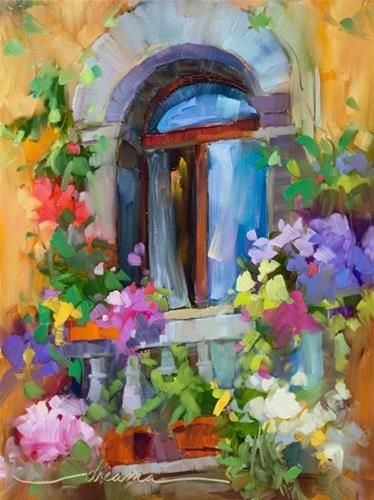 """Daily Paintworks - """"Bello Balcony + California Dreama Workshops 2 & 3"""" - Original Fine Art for Sale - © Dreama Tolle Perry"""