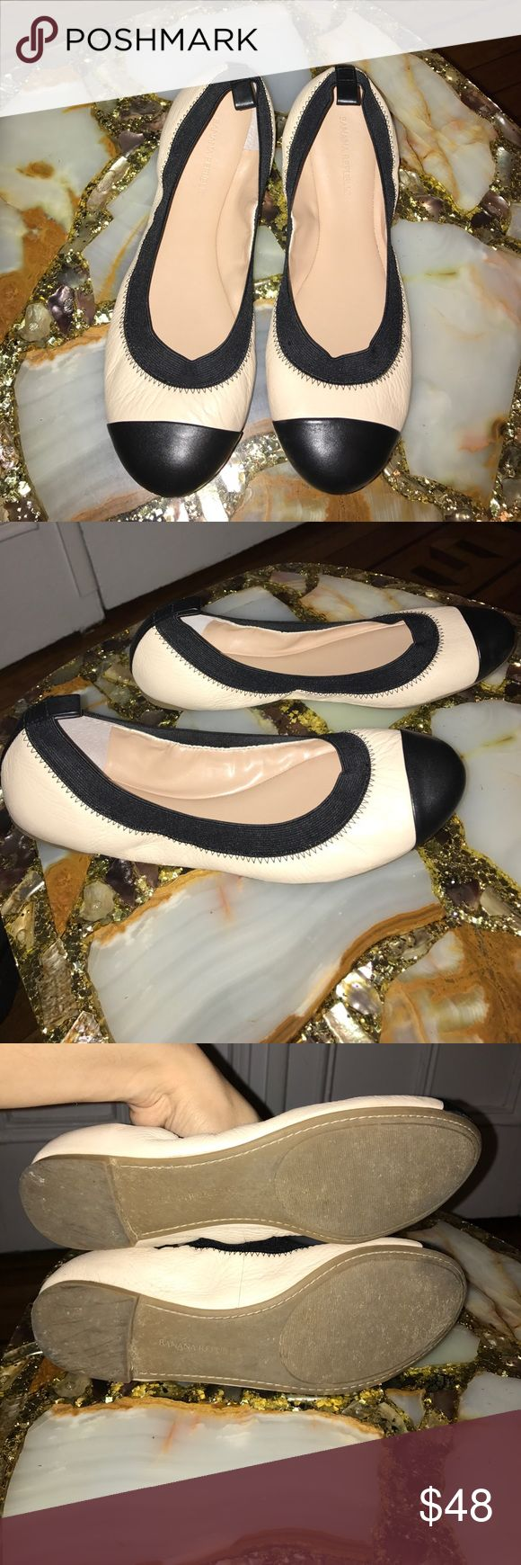 Banana Republic Aida Ballet Flats Size 8 Cute Banana Republic Flats Size 8. Used a handful of times. **No Trades**  ***Prices are negotiable, offers are welcomed***  Check out the bundle discount / I accept reasonable offers. Happy Shopping! 😊 Banana Republic Shoes Flats & Loafers