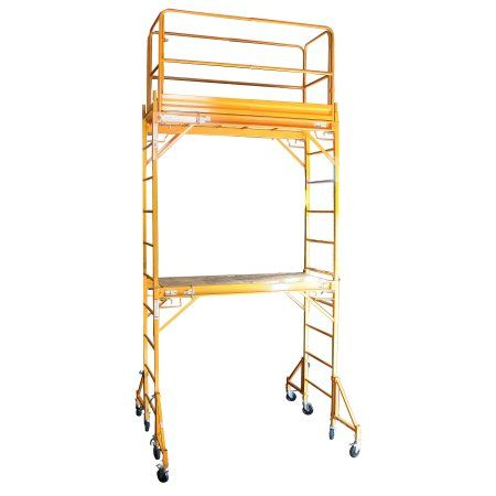 Pro-Series Two Story Rolling Scaffold Tower, Multicolor