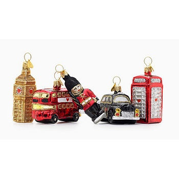 "Cute ""London"" Christmas baubles. I need all of these please"