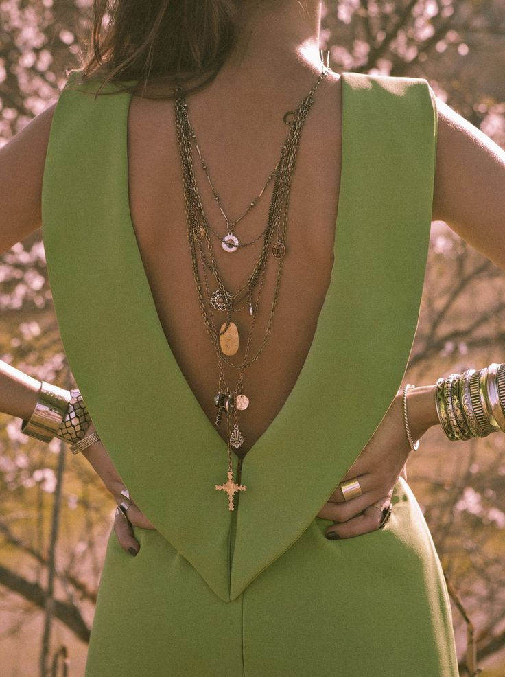 Green backless jumpsuit perfect for wedding guest, available in 21 color. Buy it here: http://www.lolandtonic.com/products/Onassis%20Jumpsuit-1 boho trend