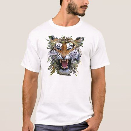 Angry Tiger Fearsome Cat T-Shirt - click/tap to personalize and buy