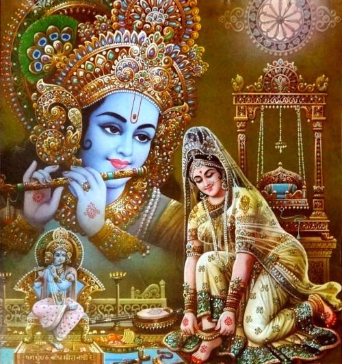 Krishna Meera Vintage Bengal poster  (via ebay:  alphaomegaphilately)
