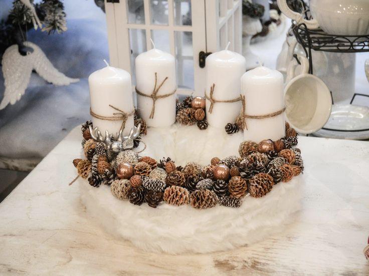 Christmas wreath / Christmas Candle Ring / Adventi koszorú