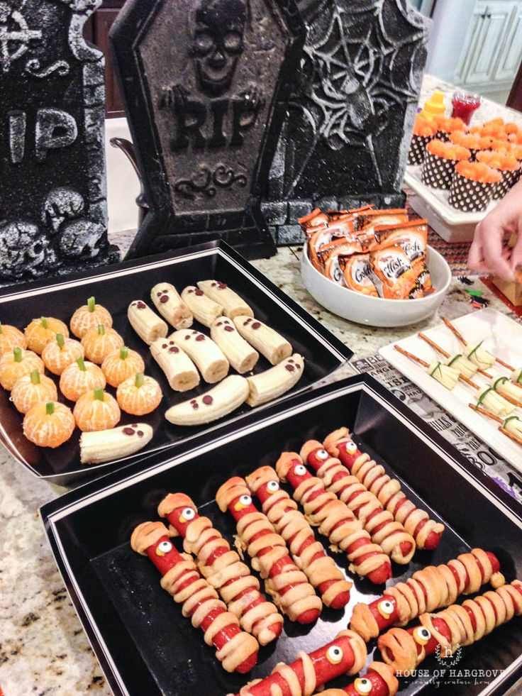 all the details on hosting a halloween trick or treat party fun themed food ideas - Halloween Trick Ideas