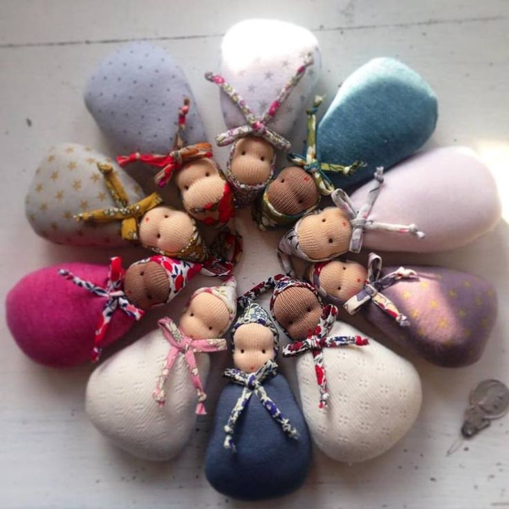 Waldorf pixie pocket doll More