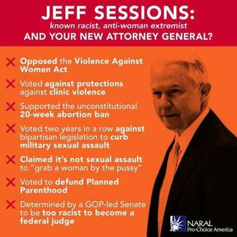 Jeff Sessions, all-around scumbag, now Attorney General??? Time to call your people in D.C. Right now!