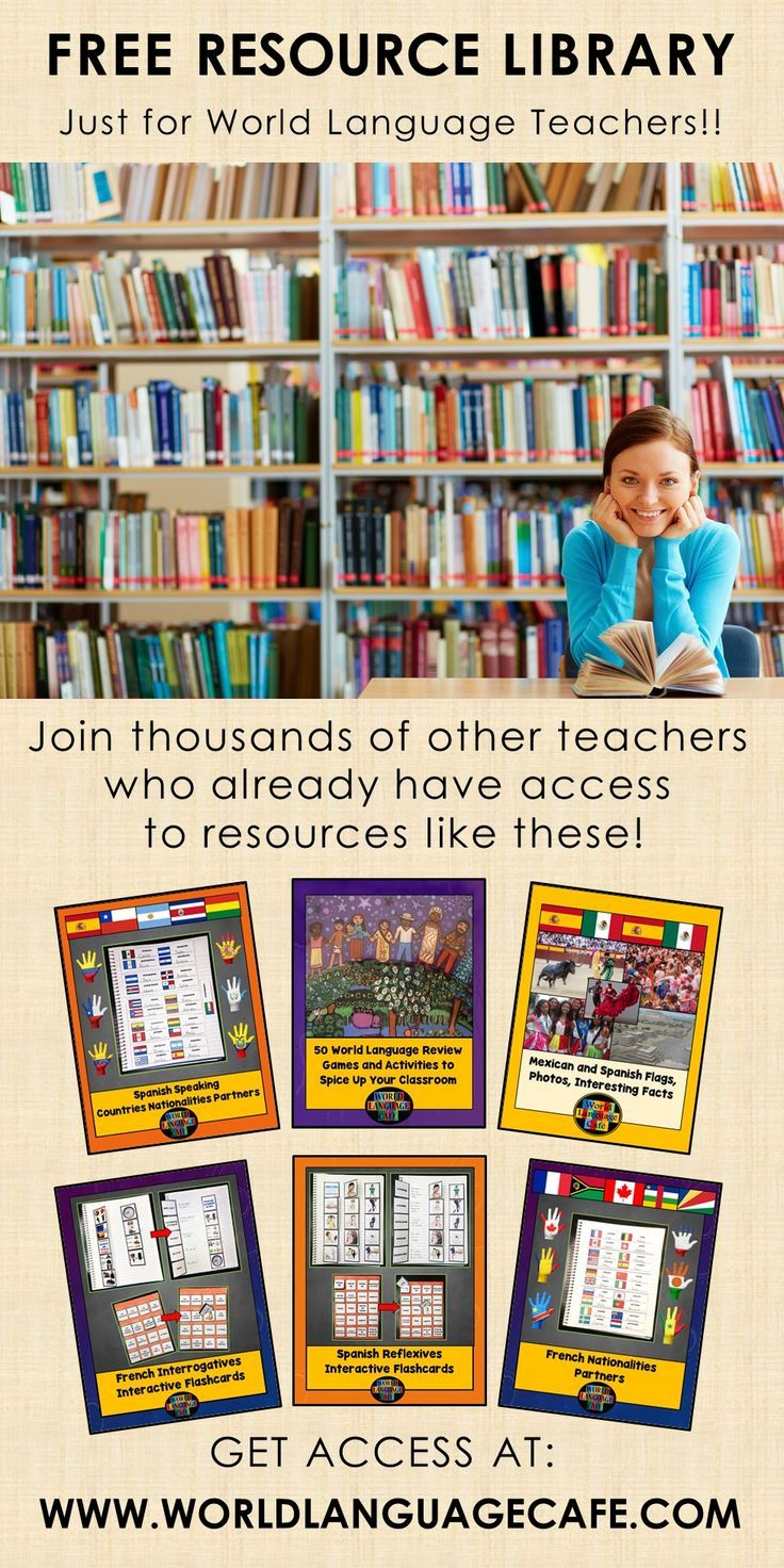 Free French and Spanish lesson plans, activities, and games and the best part is that the library will keep growing throughout the year!  Worldlanguagecafe.com