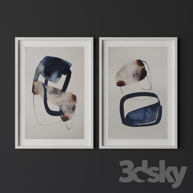 Set of contemporary art 18