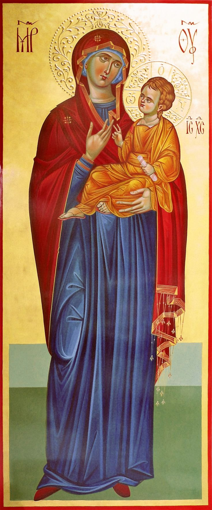 hand painted, orthodox icon, Mother Of God,  painted by Georgi Chimev