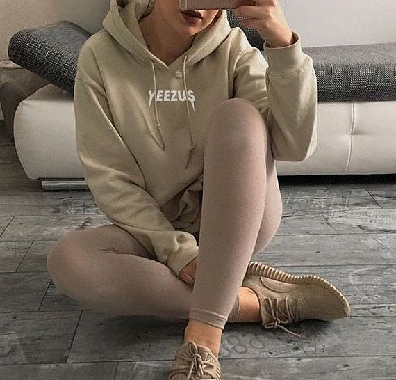 UNISEX Kanye West Yeezus Tour Supersoft Hoodie Sweatshirt Nude Beige Tan Yeezy