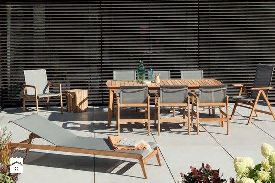KENT - meble ogrodowe z przewiewnej siatki na drewnianej ramie. - zdjęcie od meblefann.pl