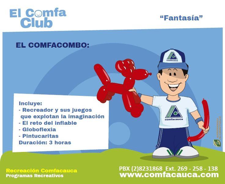 """""""Fantasía"""" Incluye: - Recreador y sus juegos que explotan la imaginación - El reto del inflable - Globoflexia - Pintucaritas Duración: 3 horas"""