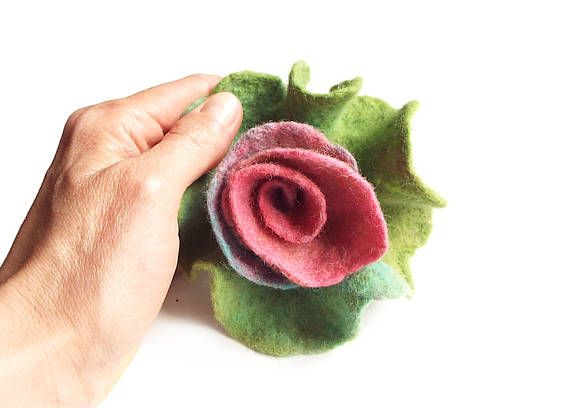 Felted flower brooch felt flower brooch flower felt floral