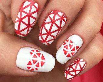 Sixty Nine pattern Nail Art Stencils incredible nail art by Unail