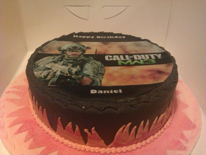 call of duty inspired cake x