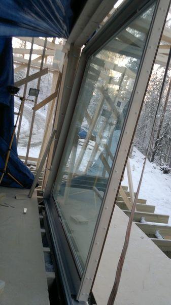 Montaż w Finlandii. Drzwi balkonowe podnoszono-przesuwne THERMO HS. Sokółka Okna i Drzwi.