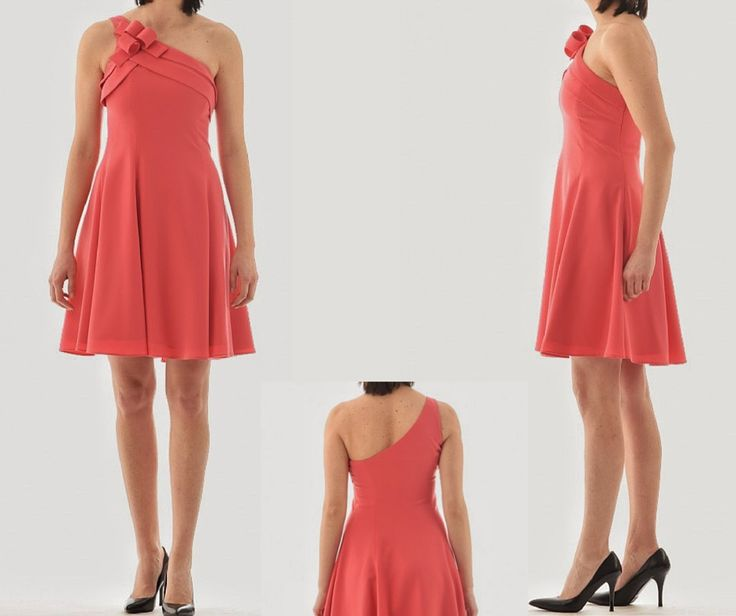 Do you like to have a special #summer  #dress...#beautiful, original and elegant? ...and you like the #italianstyle of #Armani? Here is a model in a nice tone of #coral and you can buy at our #online boutique www.lanamoda.it!