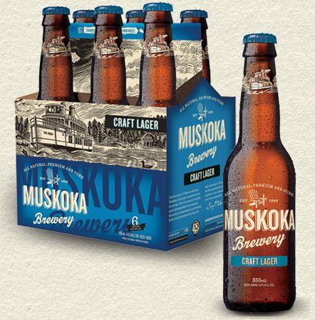 Muskoka Craft Lager  12.95 (x6) Beer Store.