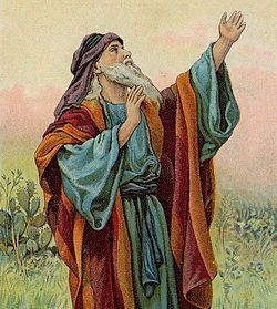 Prophet Isaiah; illustration from a Bible card published by the Providence Lithograph Company (c. 1904)