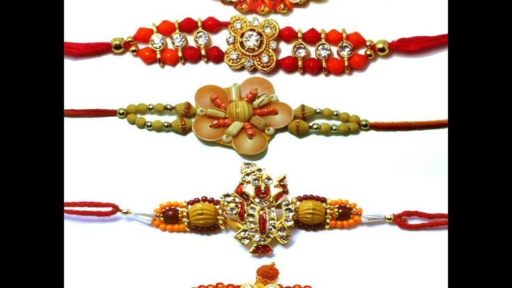 How to make rakhi for Raksha Bandana   Rakhi making  ideas at home   rak...