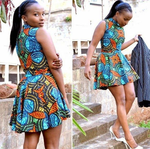 Ankara Short Gowns - Check Out this Simple Ankara Styles -  http://www.dezangozone.com/2015/05/ankara-short-gowns.html