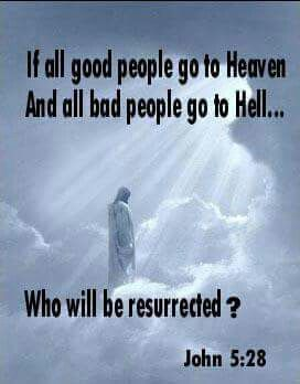 "John5:28 ""There is going to be a resurrection of both the righteous and the unrighteous."""