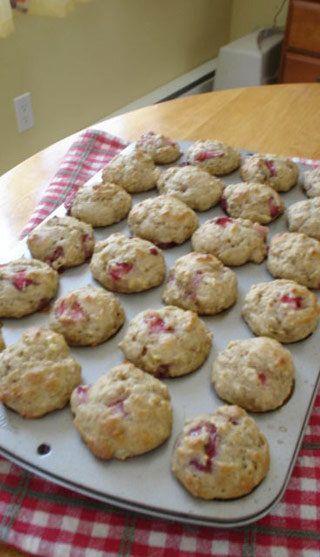 Muffins santé aux bananes et aux fraises | Recettes du Québec