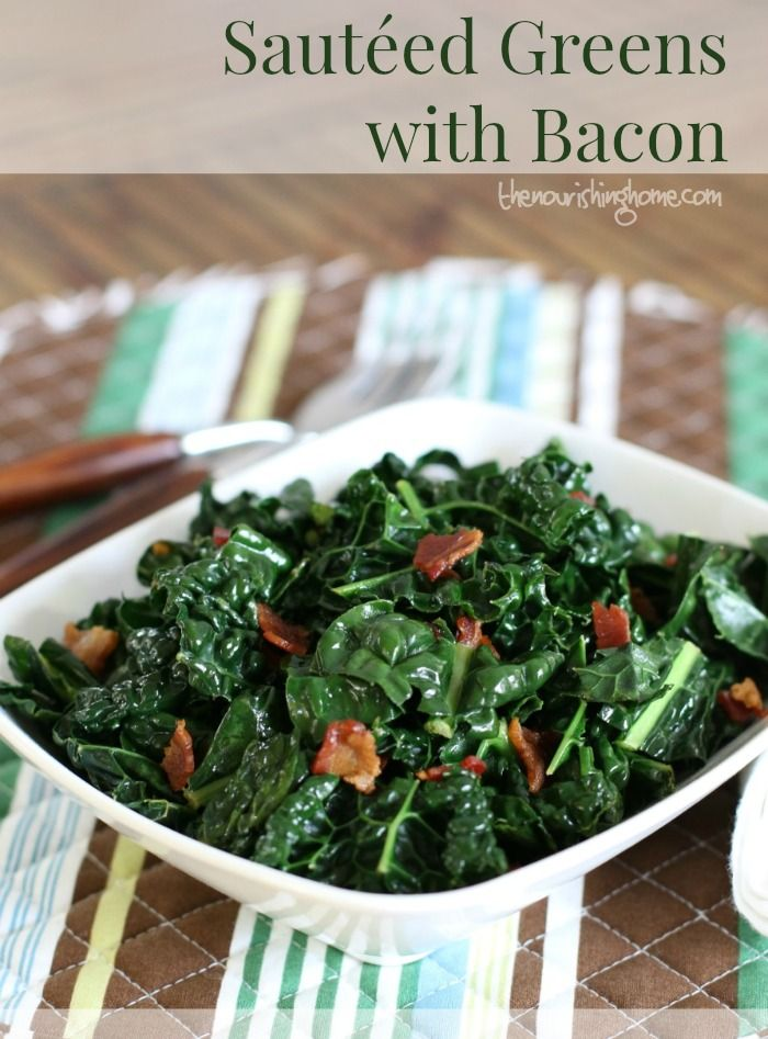 When it comes to getting more greens on your plate, the best bet is to make sauteed greens more appetizing than to add a little bacon to the mix!