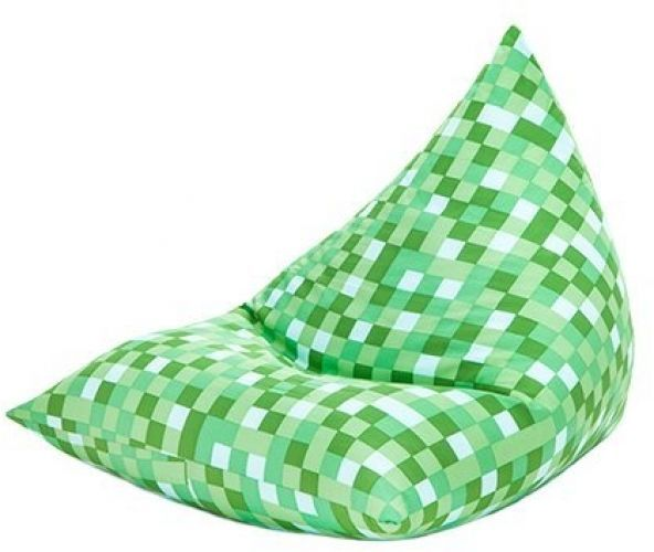 From Green Pixels Design Large Pyramid Shaped Filled Bean Bag Gamer Lounger Gaming Chair