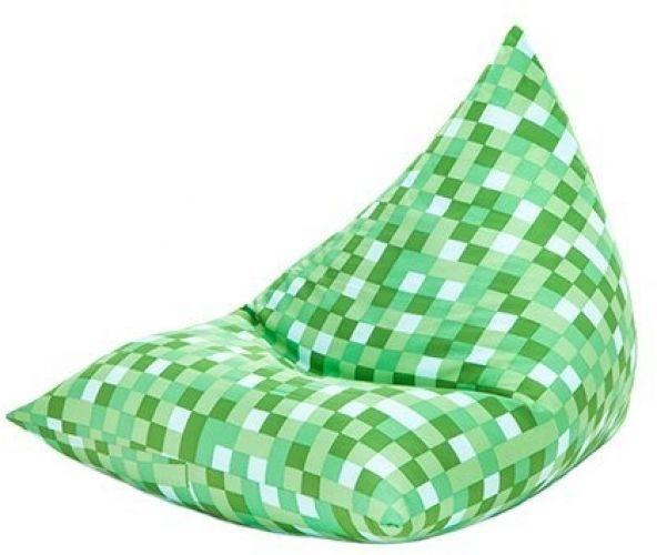 Green Pixels Design Large Pyramid Shaped Filled Bean Bag Gamer Lounger Gaming | eBay