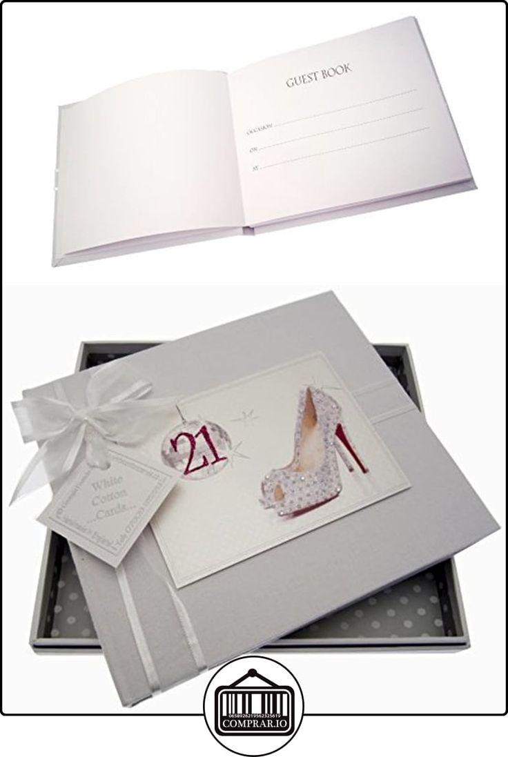 Bola de discoteca Libro Tarjetas de algodón blanco 21 cumpleaños Guest y Zapatos  ✿ Regalos para recién nacidos - Bebes ✿ ▬► Ver oferta: http://comprar.io/goto/B013JKZQ8S